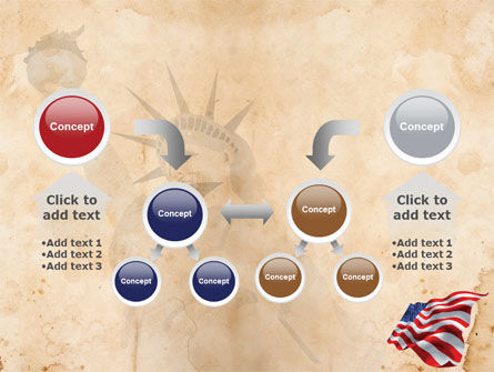 American Stars and Stripes Flag PowerPoint Template Slide 19