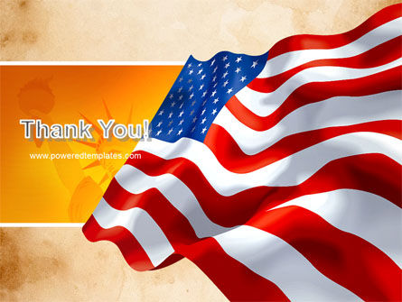 American Stars and Stripes Flag PowerPoint Template Slide 20