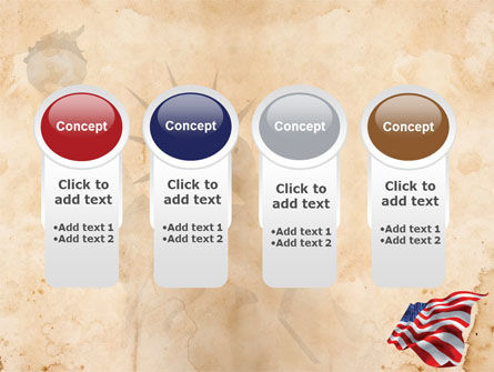 American Stars and Stripes Flag PowerPoint Template Slide 5