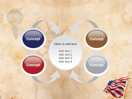 American Stars and Stripes Flag PowerPoint Template Slide 6