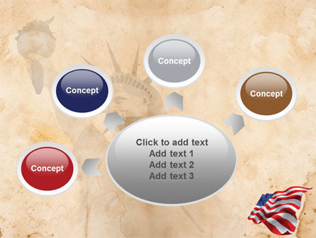 American Stars and Stripes Flag PowerPoint Template Slide 7