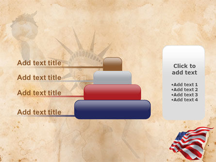 American Stars and Stripes Flag PowerPoint Template Slide 8