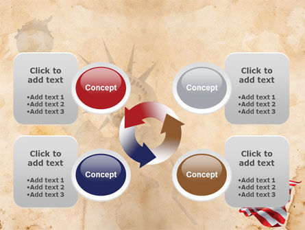 American Stars and Stripes Flag PowerPoint Template Slide 9