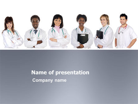 Medical: Medical Interns PowerPoint Template #03390
