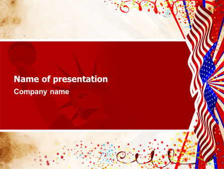 Holiday/Special Occasion: 4th of July Celebration Free PowerPoint Template #03392