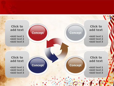Free 4th of July Celebration PowerPoint Template Slide 9