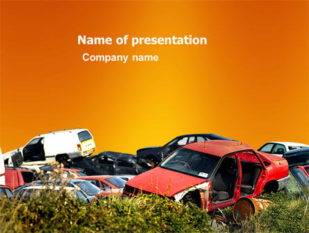 Utilities/Industrial: Car Dump PowerPoint Template #03394