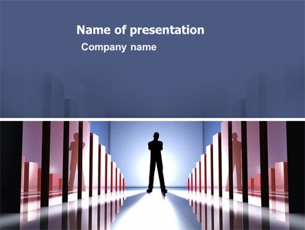 Perspective PowerPoint Template, 03395, Business Concepts — PoweredTemplate.com