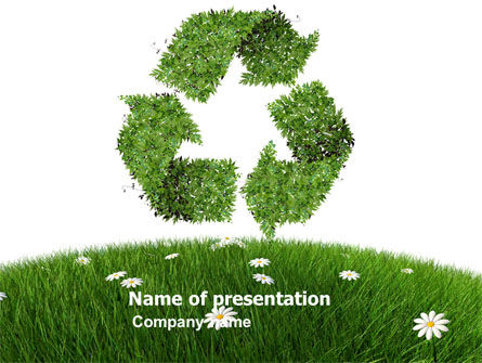 Recycling Symbol PowerPoint Template, 03397, Nature & Environment — PoweredTemplate.com