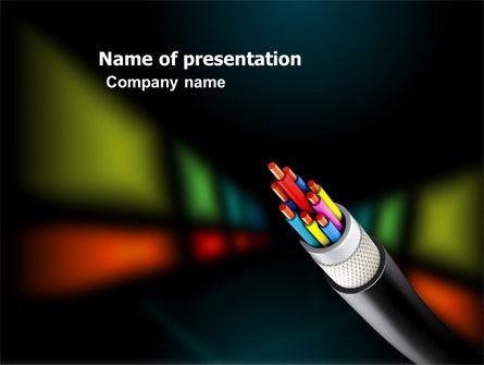 Telecommunication: Templat PowerPoint Serat Optik #03399