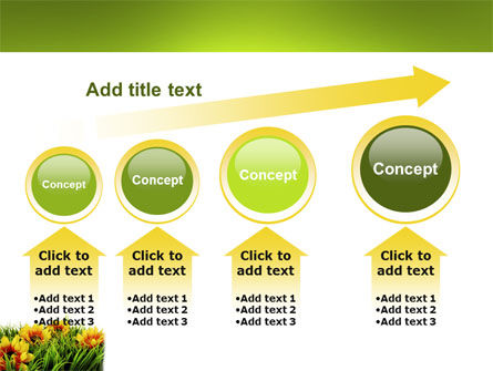 Yellow Flower PowerPoint Template Slide 13