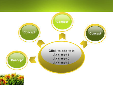 Yellow Flower PowerPoint Template Slide 7