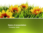 Agriculture: Gele Bloem PowerPoint Template #03401