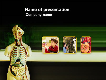 Anatomy Lessons PowerPoint Template, 03406, Medical — PoweredTemplate.com