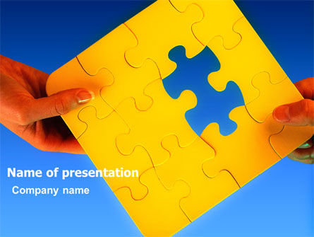 Consulting: Missing Part Searching PowerPoint Template #03407