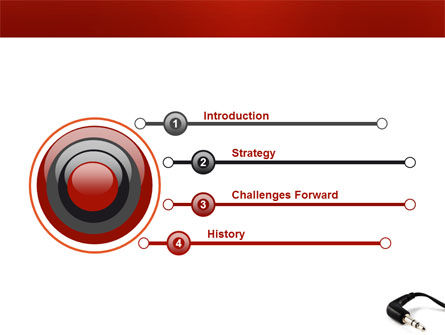 Stereo Jack PowerPoint Template, Slide 3, 03408, Technology and Science — PoweredTemplate.com