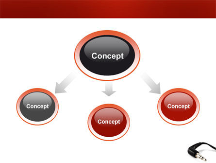 Stereo Jack PowerPoint Template, Slide 4, 03408, Technology and Science — PoweredTemplate.com
