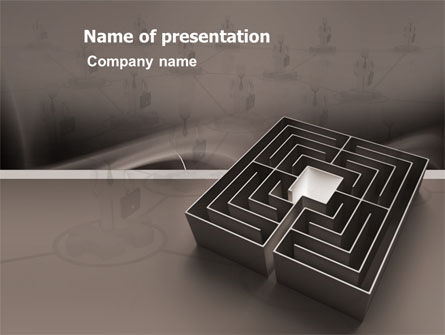 Business Concepts: Maze PowerPoint Template #03409