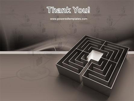 Maze PowerPoint Template Slide 20