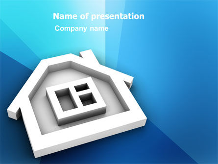 Real Estate: Plantilla de PowerPoint - icono de la casa #03410