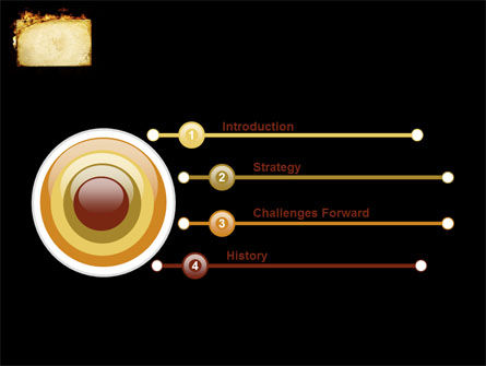 Fire Board PowerPoint Template, Slide 3, 03412, Abstract/Textures — PoweredTemplate.com