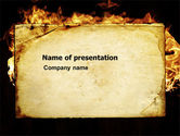 Abstract/Textures: Fire Board PowerPoint Template #03412