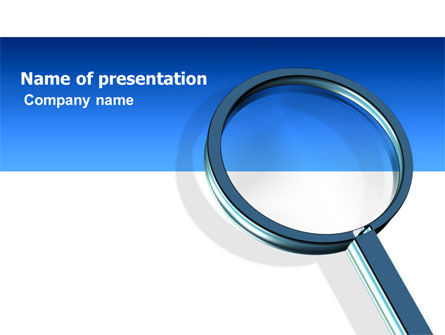 Consulting: Magnifying Glass In Search PowerPoint Template #03413