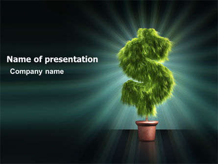 Green Dollar Breeding PowerPoint Template, 03414, Financial/Accounting — PoweredTemplate.com