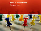 Business Concepts: Thumbtacks PowerPoint Template #03415
