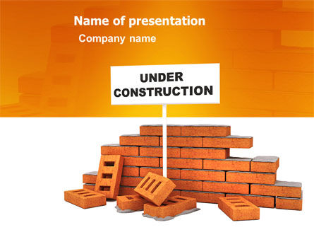 Under Construction PowerPoint Template, 03416, Construction — PoweredTemplate.com