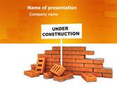 Construction: Under Construction PowerPoint Template #03416