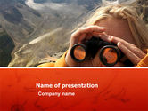 Sports: Observation Area PowerPoint Template #03417