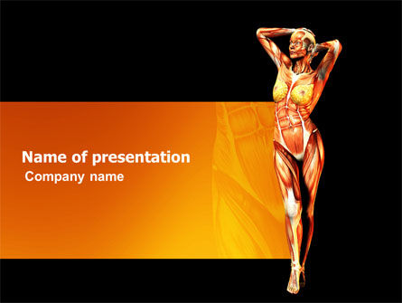 Medical: Female Body Anatomy PowerPoint Template #03418