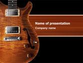 Art & Entertainment: Semi Acoustic Guitar PowerPoint Template #03419