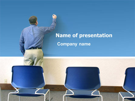 Education & Training: Public Presentation PowerPoint Template #03421