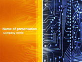 Technology and Science: Circuit Board PowerPoint Template #03422