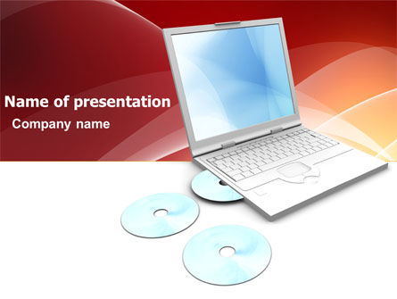 Technology and Science: Computer Laptop PowerPoint Template #03424