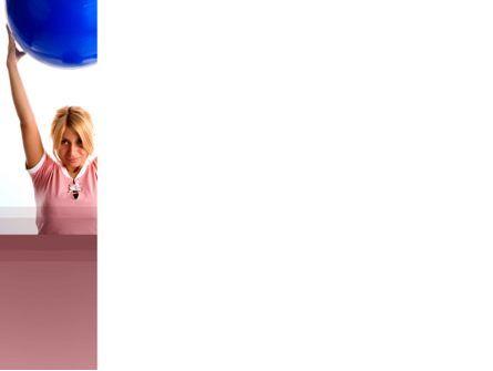 Women's Fitness Club PowerPoint Template, Slide 3, 03425, Sports — PoweredTemplate.com