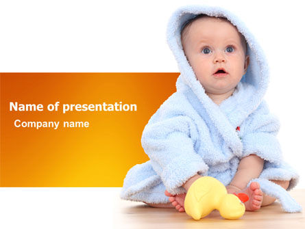 Little Baby PowerPoint Template, 03426, People — PoweredTemplate.com