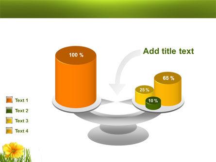 Yellow Flower In A Green Grass PowerPoint Template Slide 10