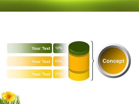 Yellow Flower In A Green Grass PowerPoint Template Slide 11