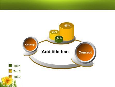 Yellow Flower In A Green Grass PowerPoint Template Slide 16