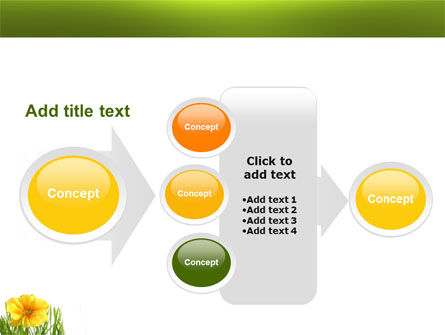 Yellow Flower In A Green Grass PowerPoint Template Slide 17