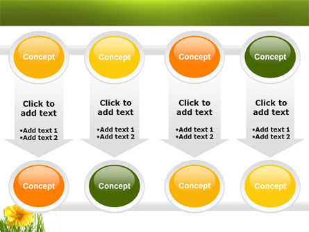 Yellow Flower In A Green Grass PowerPoint Template Slide 18