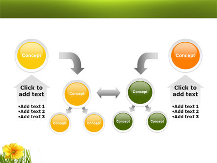 Yellow Flower In A Green Grass PowerPoint Template Slide 19