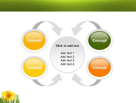 Yellow Flower In A Green Grass PowerPoint Template Slide 6