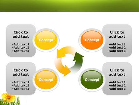 Yellow Flower In A Green Grass PowerPoint Template Slide 9