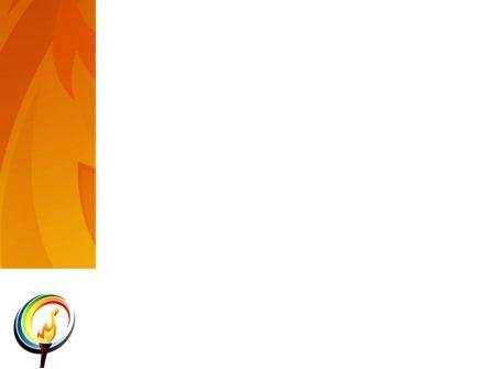 Olympic Fire PowerPoint Template, Slide 3, 03430, Sports — PoweredTemplate.com