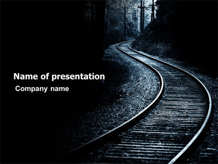 Construction: Railway PowerPoint Template #03431