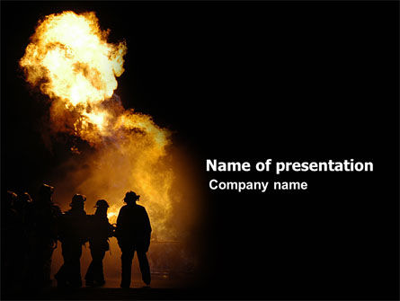 Careers/Industry: Fire Brigade PowerPoint Template #03434